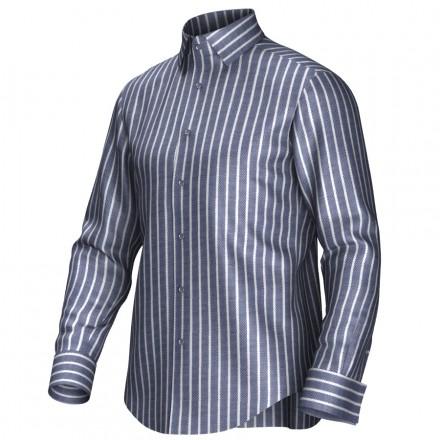 Maatoverhemd grijs/wit 54395