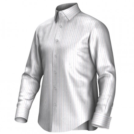 Bespoke shirt white/red/blue 54371