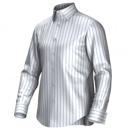 Bespoke shirt white/blue 54273
