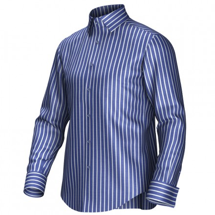 Maatoverhemd blauw/wit 54285