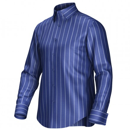 Maatoverhemd blauw/wit 54211
