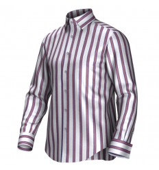 Bespoke shirt white/red/blue 54417