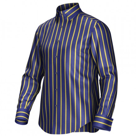 Bespoke shirt blue/yellow 54421