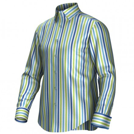 Bespoke shirt blue/green/white 54431