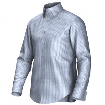 Bespoke shirt blue 53318