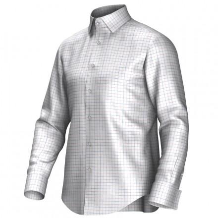 Bespoke shirt white/blue/red 53294