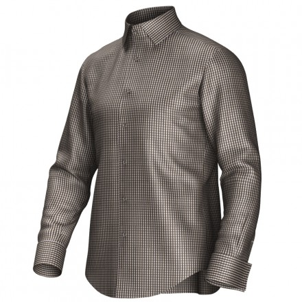 Bespoke shirt brown/white 53330