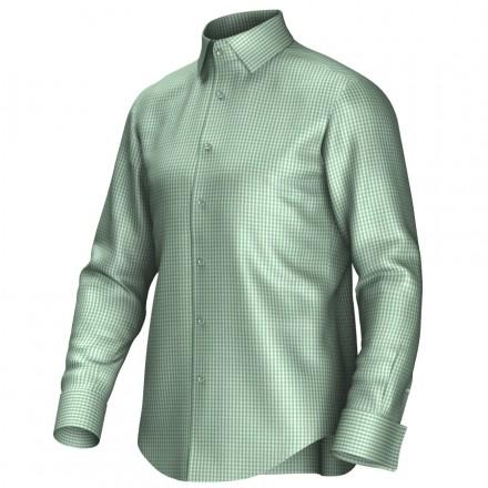 Maatoverhemd groen/wit 53332