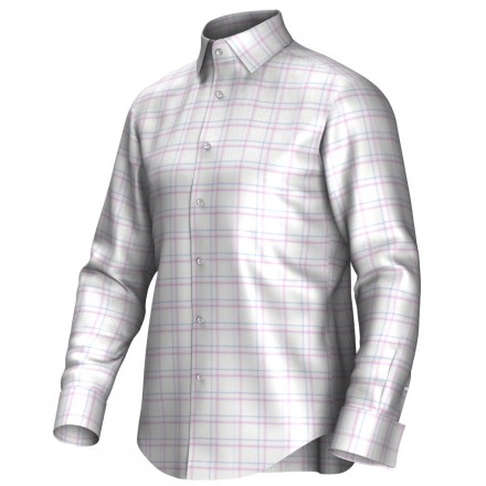 Bespoke shirt white/pink/blue 53310