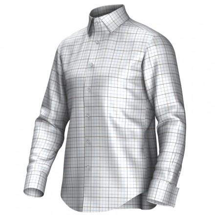 Bespoke shirt white/brown/blue 55288
