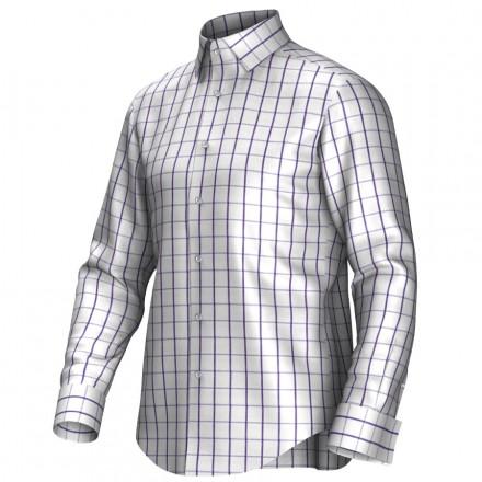 Bespoke shirt white/lila 55295