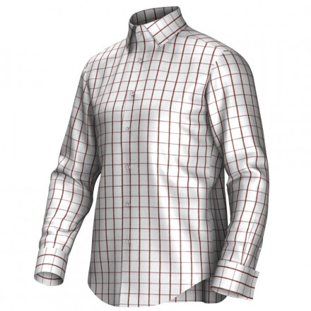 Bespoke shirt white/brown 55296