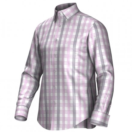 Bespoke shirt pink/grey/white 55276