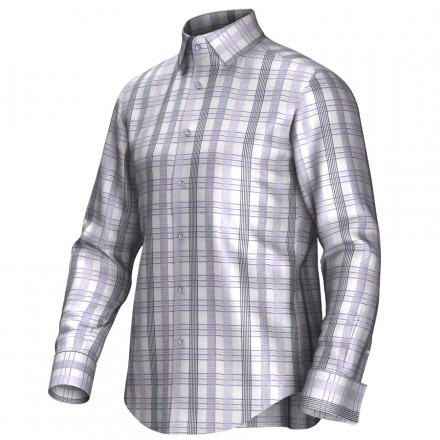 Maatoverhemd lila/grijs/wit 55277