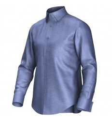 Bespoke shirt blue 55298