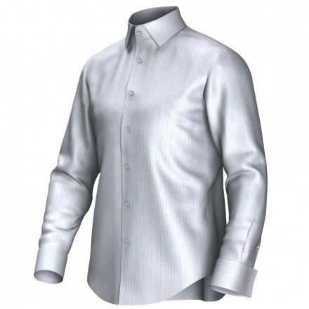 Bespoke shirt white/blue 54375