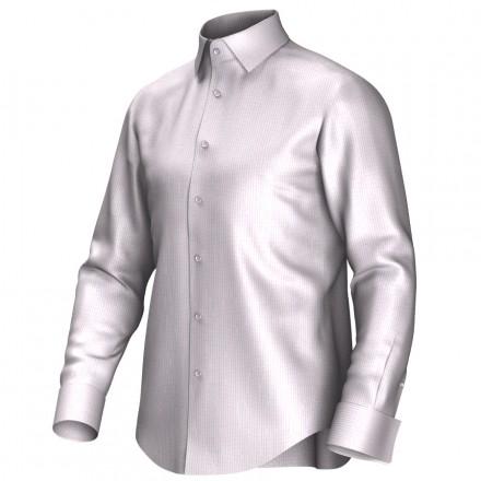 Maatoverhemd wit/roze 54379