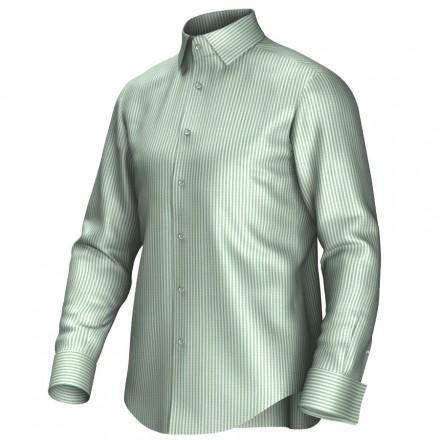 Maatoverhemd wit/groen 54386