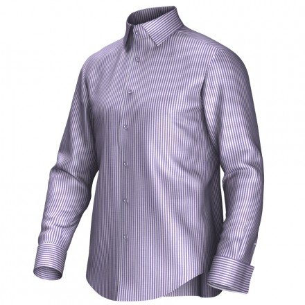 Bespoke shirt white/lila 54388