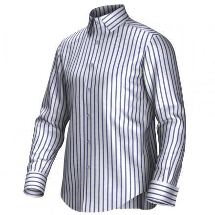 Chemise blanc/bleu 54292