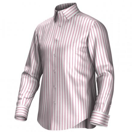 Maatoverhemd wit/rood 54293
