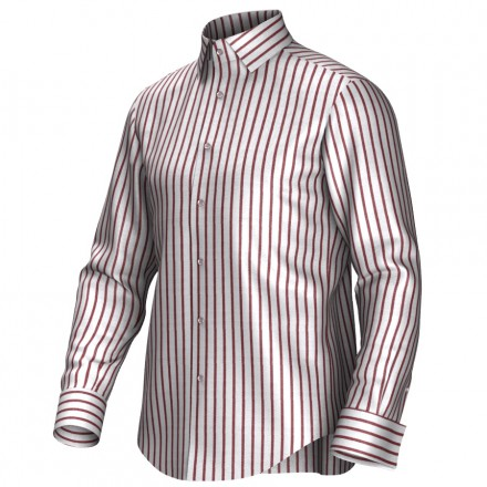 Bespoke shirt white/red 54389