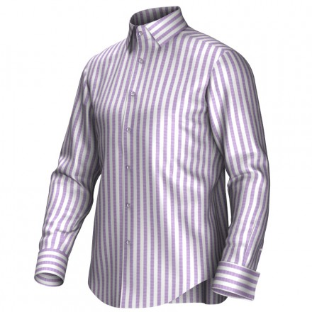 Bespoke shirt white/lila 54391