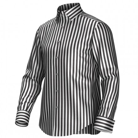 Maatoverhemd wit/zwart 54392