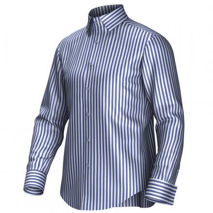 Maßhemd weiß/blau 54004