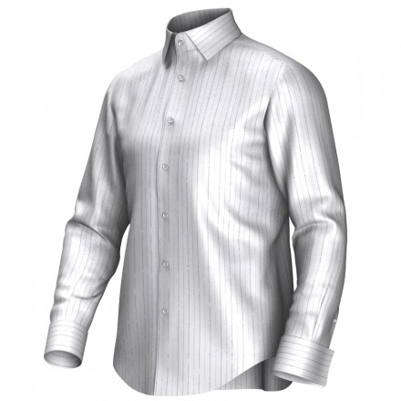 Bespoke shirt white/lila/blue 54372