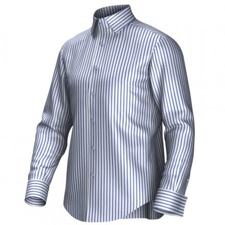 Maatoverhemd wit/blauw 54005