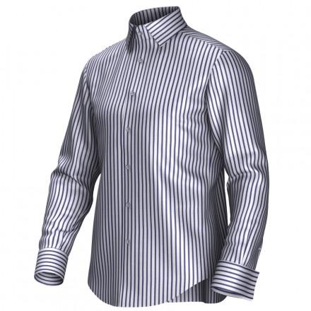 Chemise blanc/bleu 54006