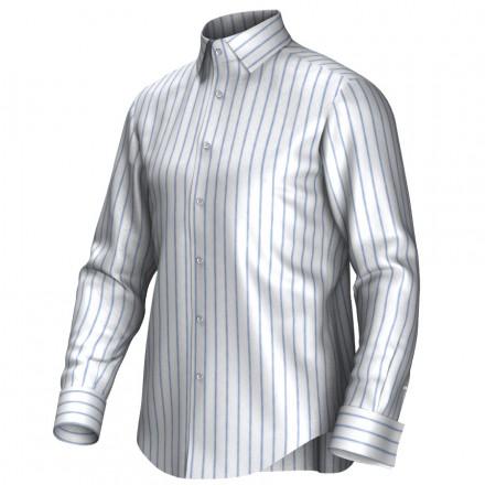 Maatoverhemd wit/blauw 54273