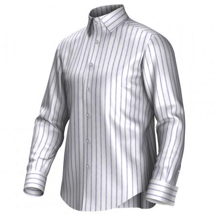 Maatoverhemd wit/lila 54274
