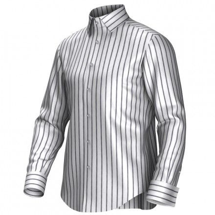 Bespoke shirt white/grey 54400
