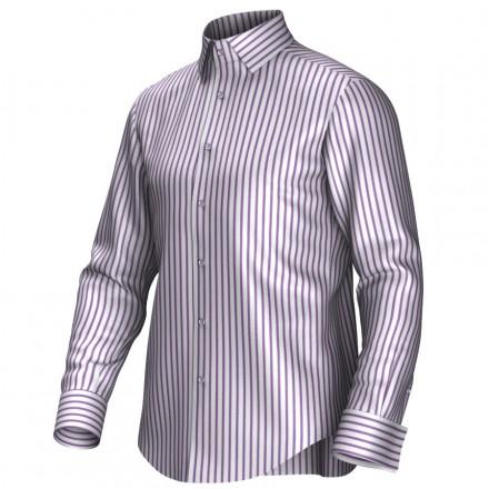 Maatoverhemd wit/lila 54008