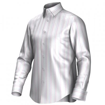 Bespoke shirt white/blue/pink 54402