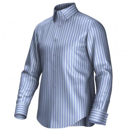 Maatoverhemd blauw/wit 54284