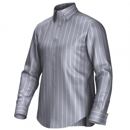 Bespoke shirt grey/white 54406