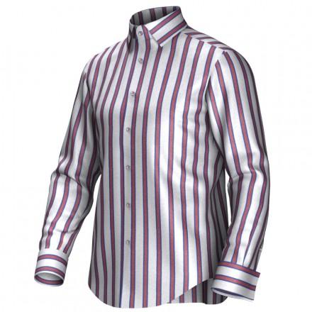 Maatoverhemd wit/rood/blauw 54417