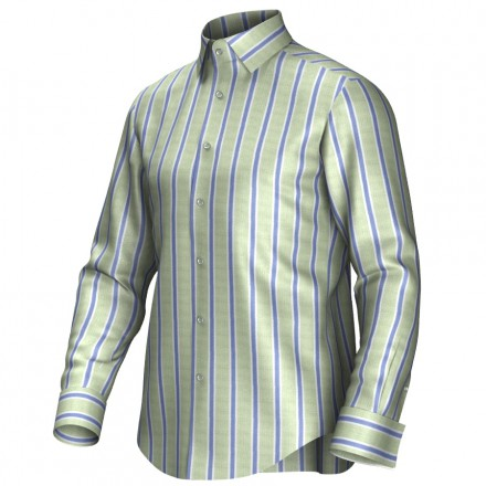 Bespoke shirt green/blue/white 54418
