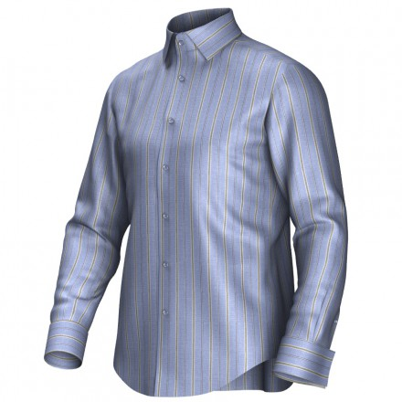 Bespoke shirt blue/yellow 54428