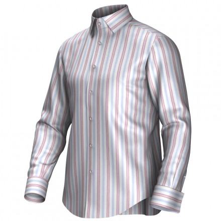 Maatoverhemd roze/blauw/wit 54098