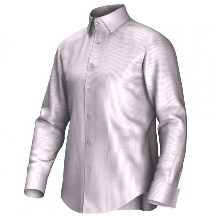 Maatoverhemd roze/wit 53316