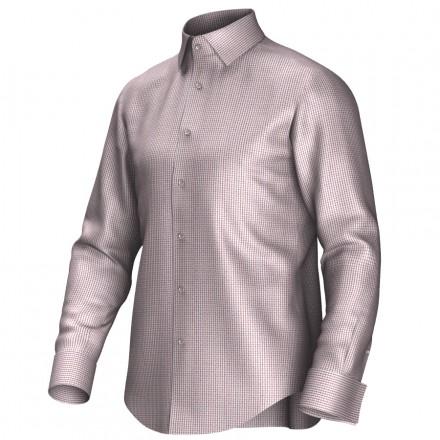 Maatoverhemd rood/wit 53317