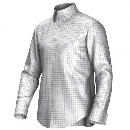 Chemise blanc/vert 53321