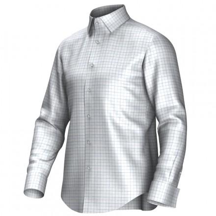 Chemise blanc/bleu 53293