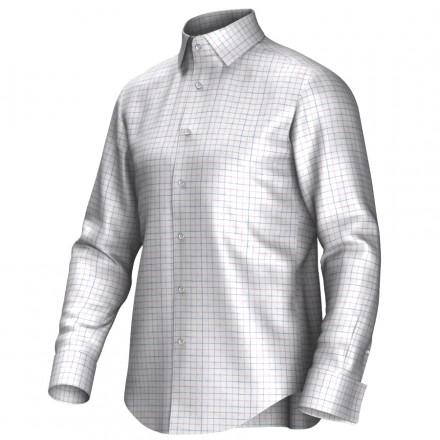 Maatoverhemd wit/blauw/rood 53294
