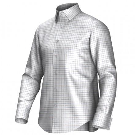 Chemise blanc/bleu/pourpre 53323