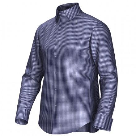 Maatoverhemd blauw/wit 53225